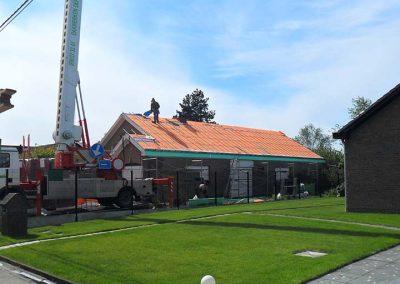 Dak renoveren woning - dakwerker - tijdens de werken