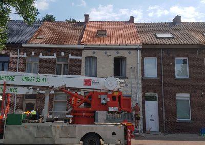 Nieuwe dakpannen Terreal Renaissance natuurrood dubbele stormpannen