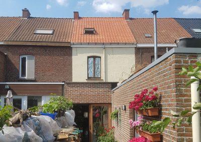 Totale dakrenovatie - dakgoten - velux plaatsen - dakpannen Terreal Renaissance natuurrood